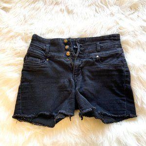 d.jeans High Waist Denim Shorts Black Size 6